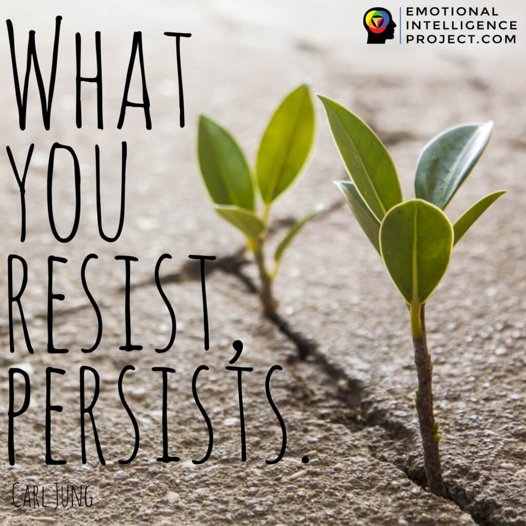 """Quote: """"What you resist persists"""" By Carl Gustav Jung"""